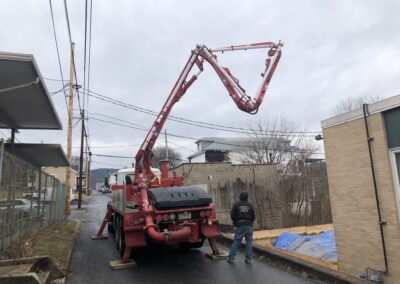 Lehighton Library Addition - Concrete Pumping Day