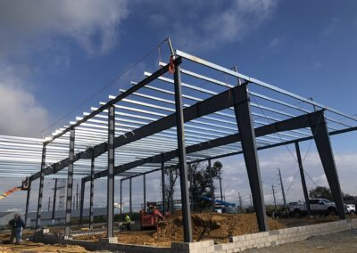 Muhlenberg Public Works Building - Varco Pruden Pre-Engineered Metal Building Erection
